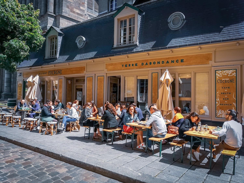 Terrasse du bistro Cocagne à Rennes