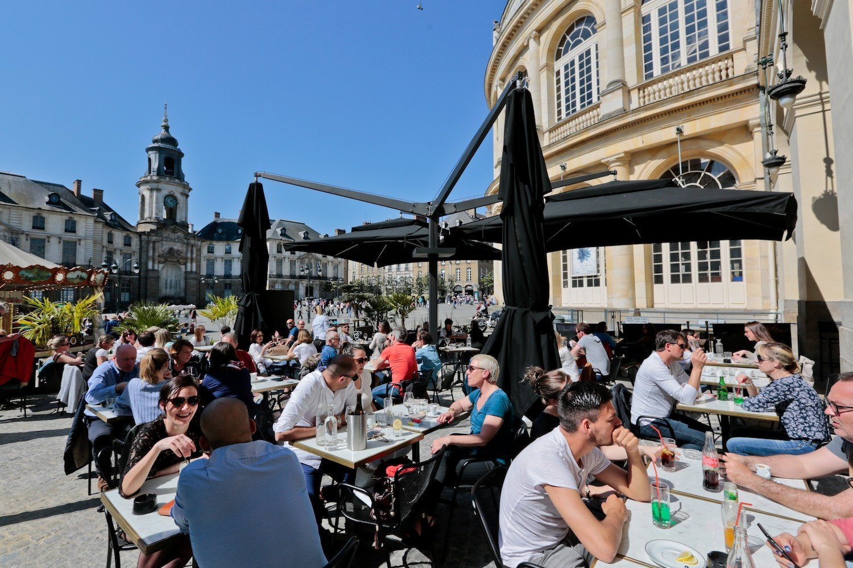 La terrasse du Piccadilly à Rennes