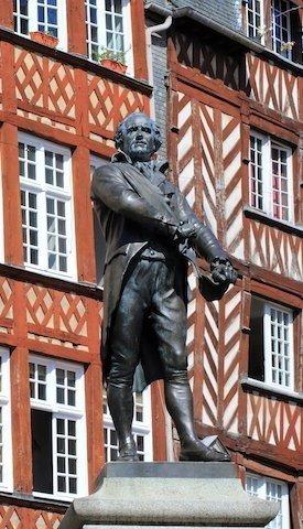 Statue de Leperdit place du Champ Jacquet à Rennes