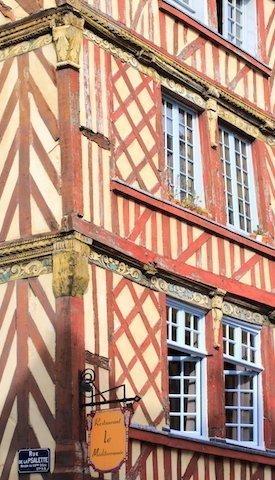 Rue du chapitre à Rennes