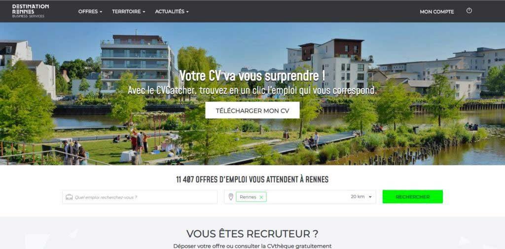 Site recrutement Rennes Métropole