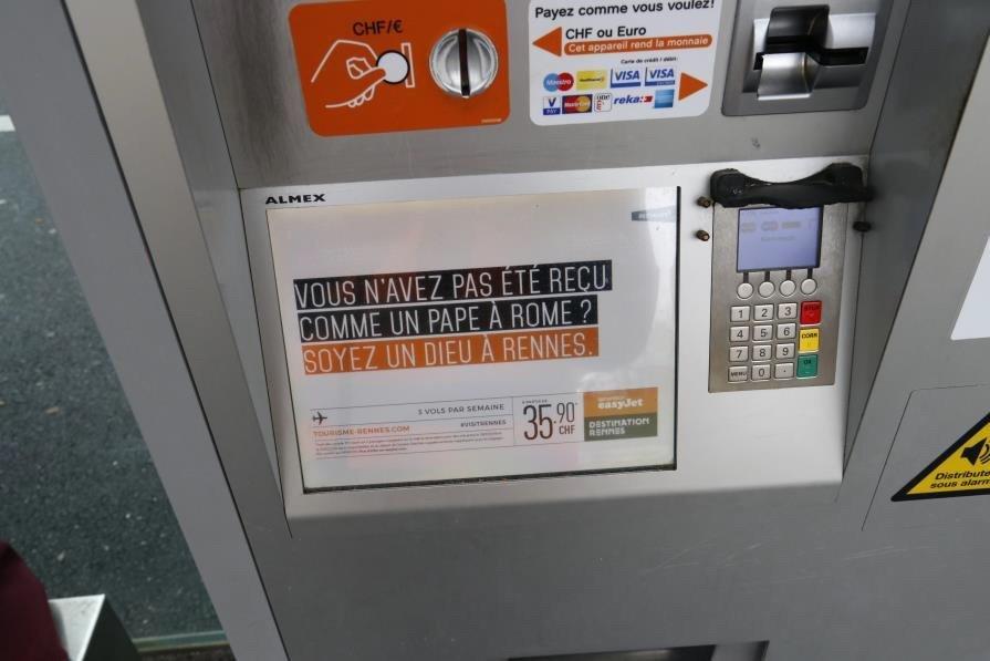 Campagne de publicité à Genève