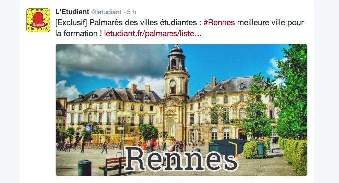 Palmarès des villes étudiantes