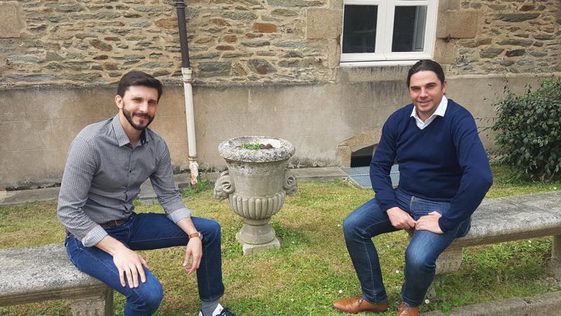Antoine Cariou, co-fondateur de Be Lobsters et Maël Jaffrelot, co-fondateur de l'Eclozr