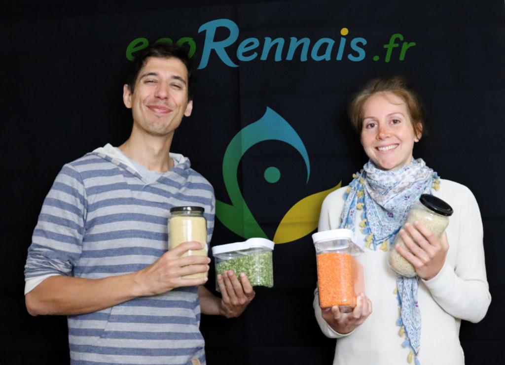 Thibault et Pauline, fondateurs du drive écoRennais