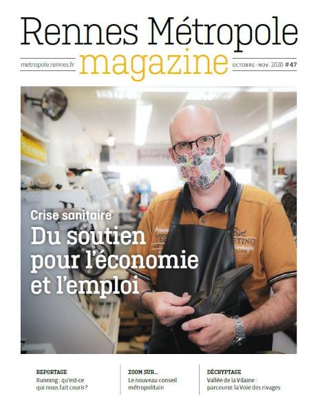 Une Rennes Métropole Magazine octobre-novembre 2020