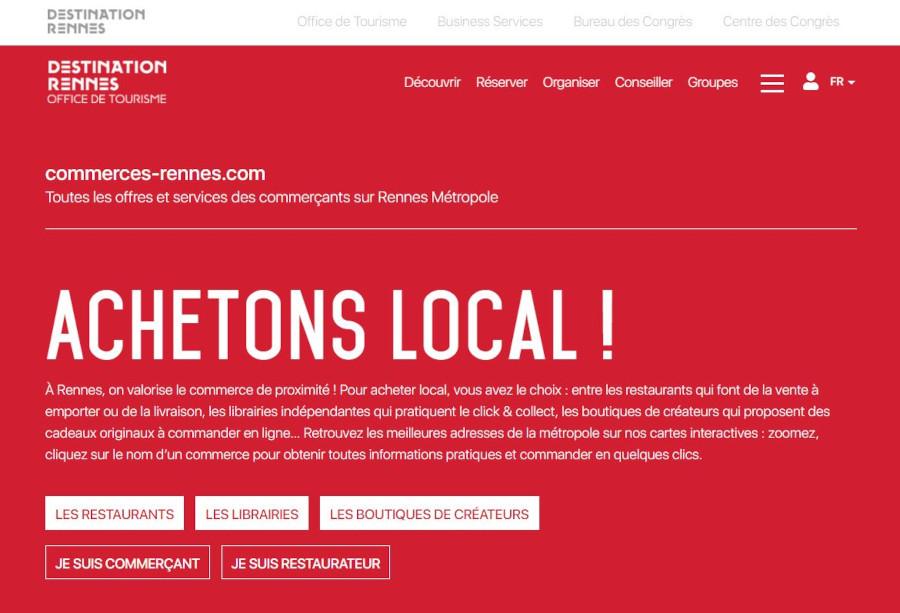 Capture site commerce-rennes.com
