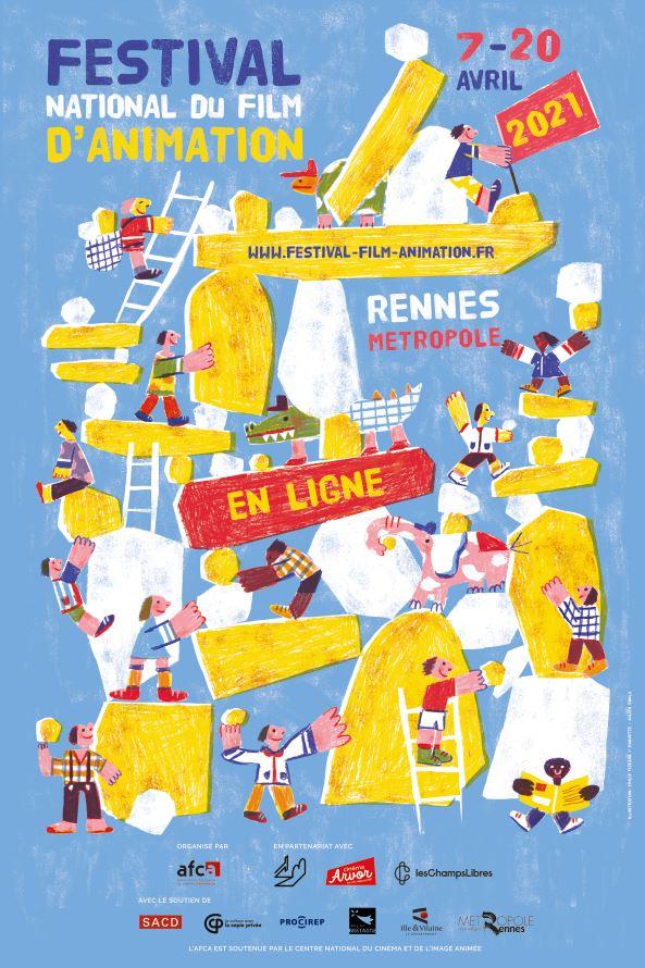Affiche Festival du film d'animation Rennes