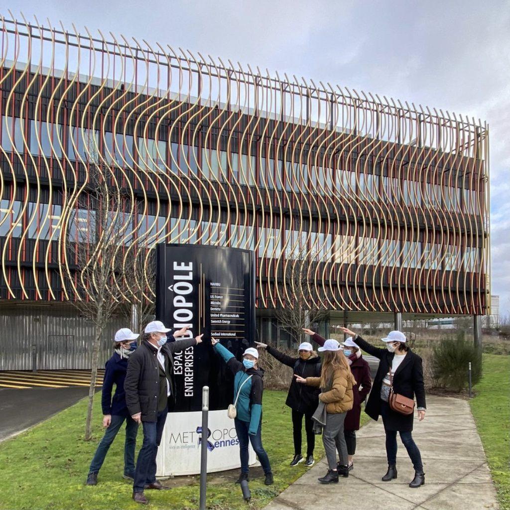 L'équipe Agriodor à la pépinière Biopôle de Rennes