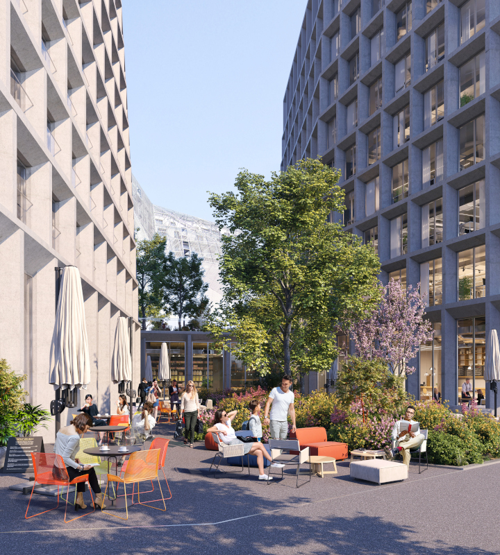 Placette Immeuble Le Beaumont Legendre EuroRennes