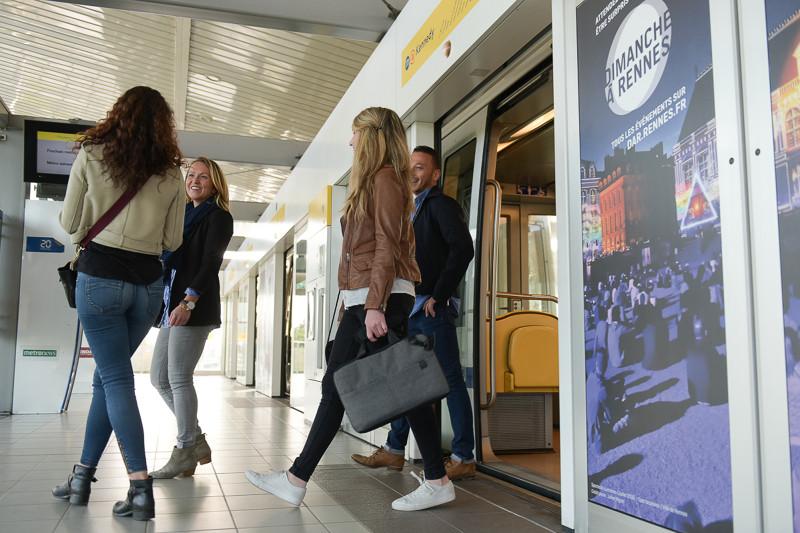 La ligne A du métro à Rennes (photo : Destination Rennes - Thomas Crabot)