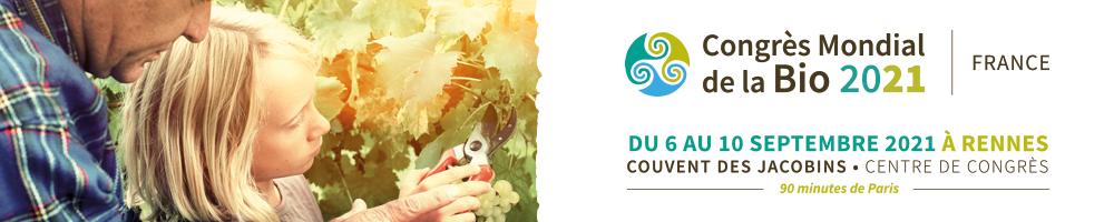 bannière Congrès Mondial de la BIO 2021