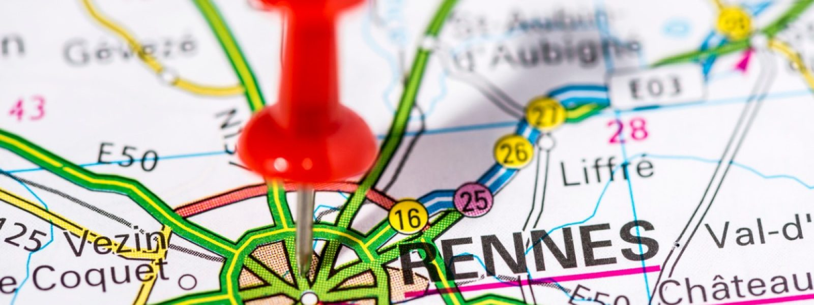 Rennes sur la carte