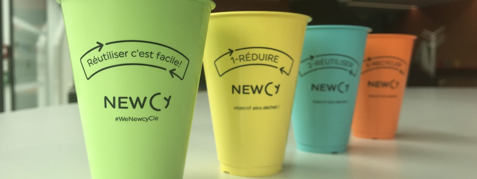 Newcy: les gobelets recyclabes