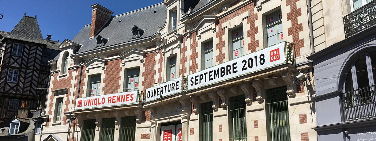 Travaux avant l'ouverture du magasin Uniqlo Rennes